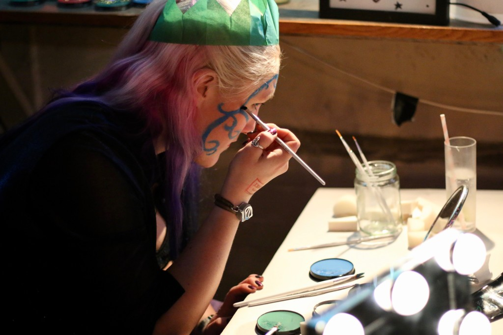 At the Face Paint station, donated by Fancy Dress Town