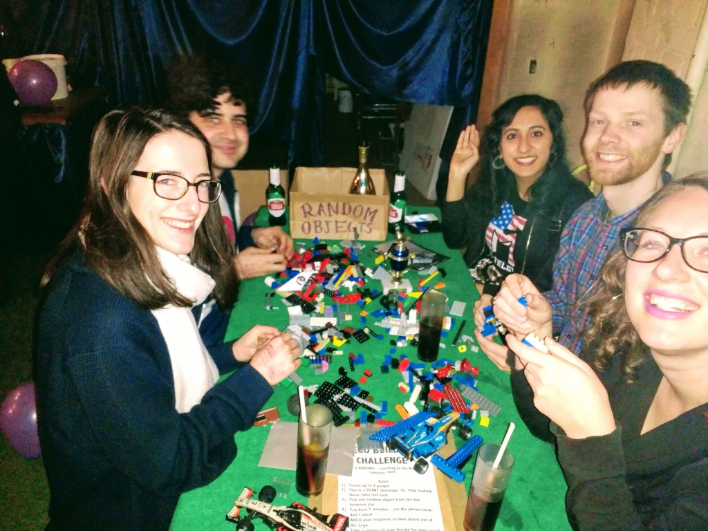 Fun with LEGO in the silent team building challenge