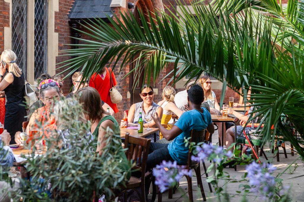 Drinks in the Courtyard at Toynbee Studios